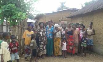 A community in Sierra Leone which is benefitting from CAFOD's work.