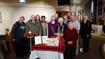 St Teresa's CAFOD Group and Fr Chris Fallon