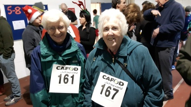 Sister Pat and Mary Coghlan enjoy the CAFOD Fun Run every year!