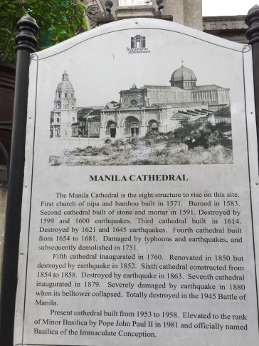 Manila Cathedral sign blog 2