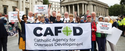 CAFOD Supporters campaigning